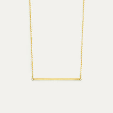 Minimal Line Bar Horizontal Necklace Necklace - A Gilded Leaf jewelry