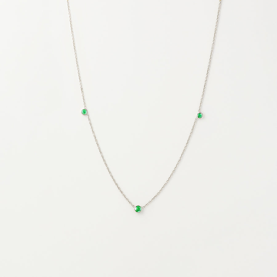Orion's Emerald Necklace Necklace - A Gilded Leaf jewelry