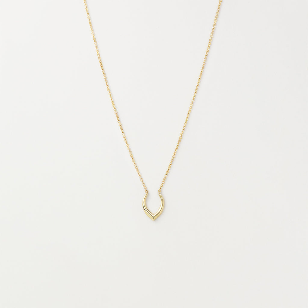 Minimal Deer Antler Necklace Necklace - A Gilded Leaf jewelry