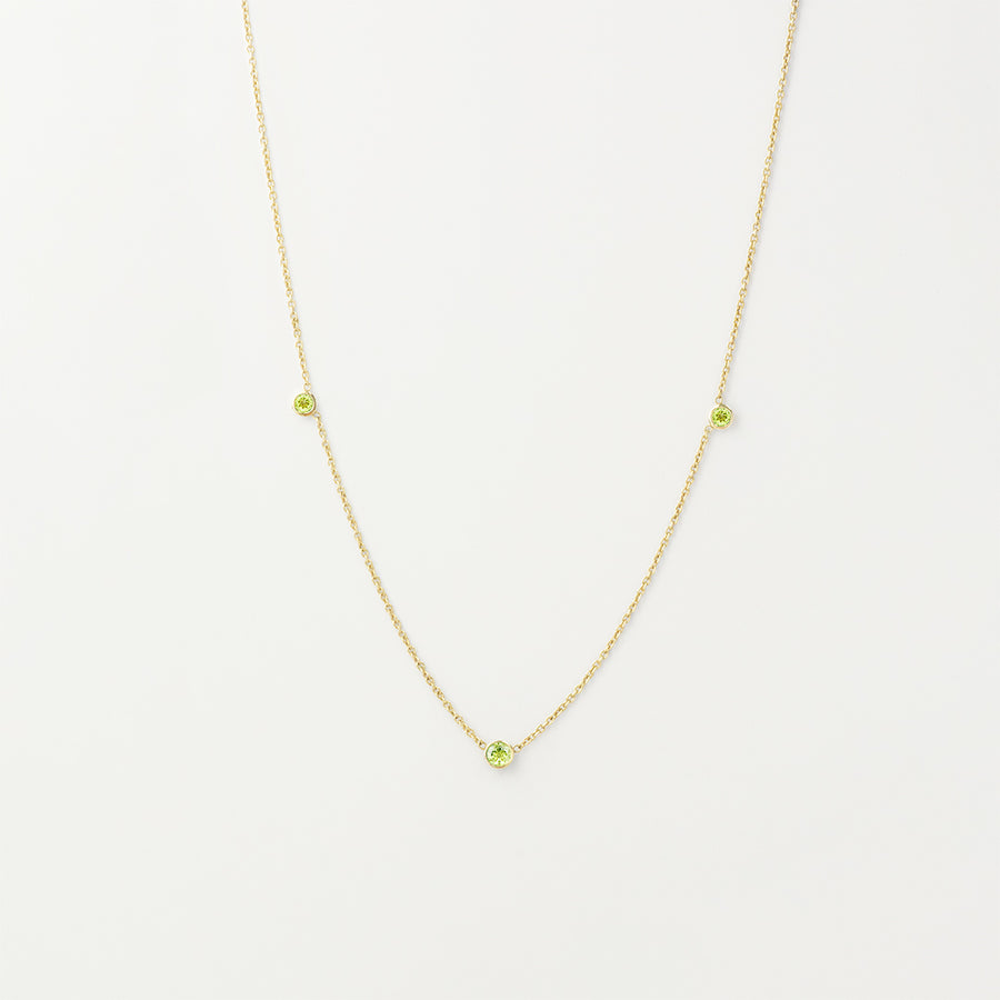 Orion's Peridot Necklace Necklace - A Gilded Leaf jewelry