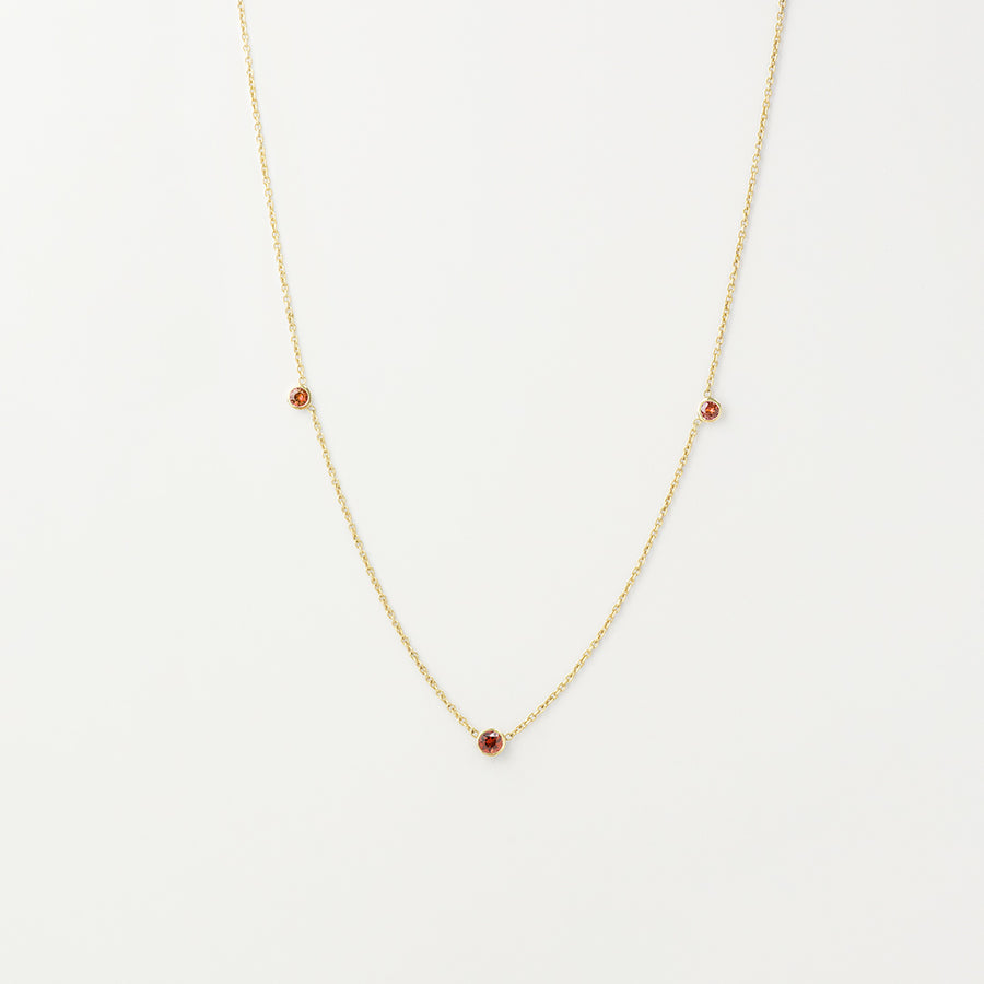 Orion's Red Garnet Necklace Necklace - A Gilded Leaf jewelry