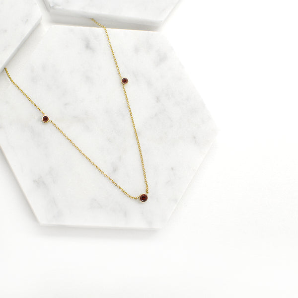 Orion's Ruby Necklace Necklace - A Gilded Leaf jewelry