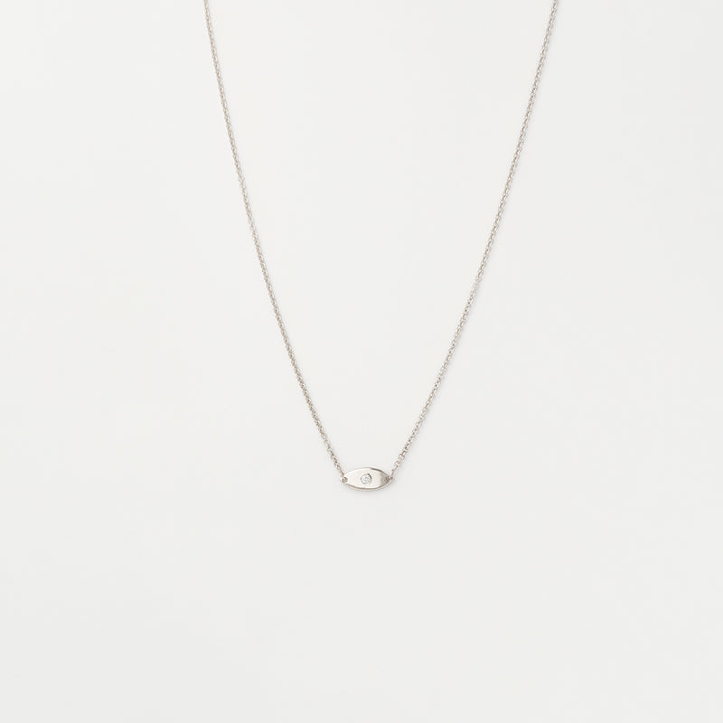 Minimal Evil Eye Diamond Necklace