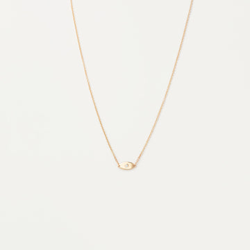 Minimal Evil Eye Diamond Necklace Necklace - A Gilded Leaf jewelry