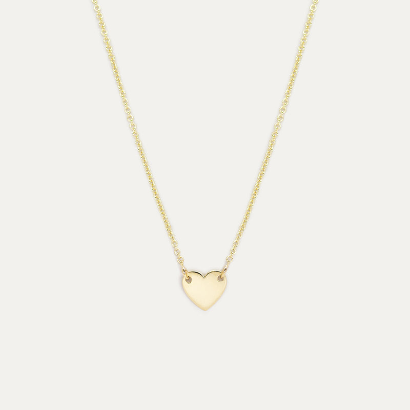 Dainty Heart Necklace Necklace - A Gilded Leaf jewelry
