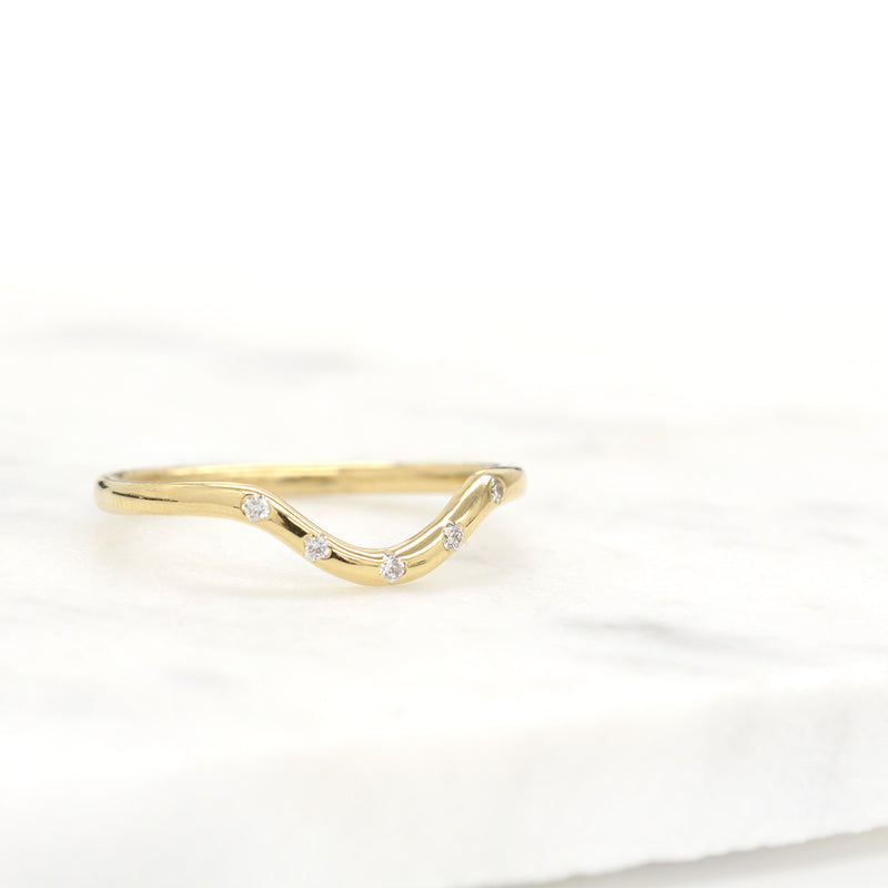Arch Diamond Ring Rings - A Gilded Leaf jewelry