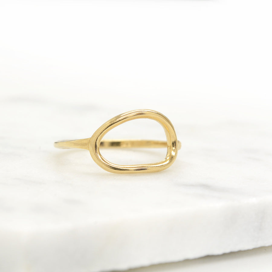 Organic Oval Open Ring