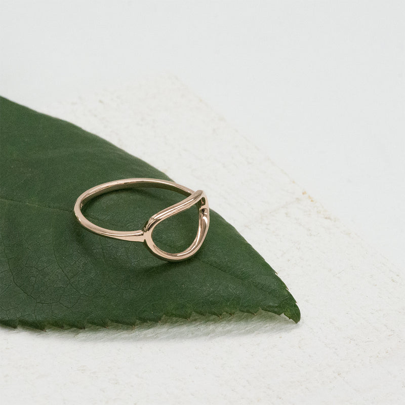 Organic Oval Open Ring Rings - A Gilded Leaf jewelry