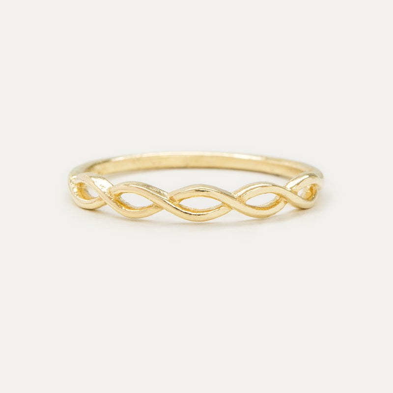 Dainty Half Braided Ring Rings - A Gilded Leaf jewelry