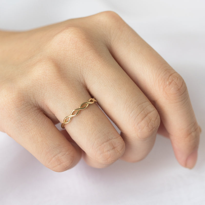 Dainty Half Braided Ring - 2.50 MM - Sample