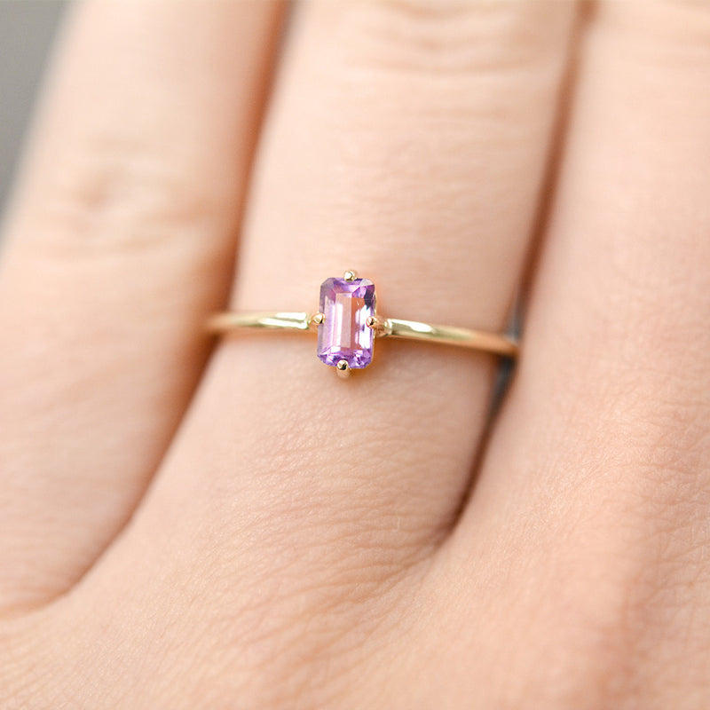Amethyst Sparkler Ring Rings - A Gilded Leaf jewelry