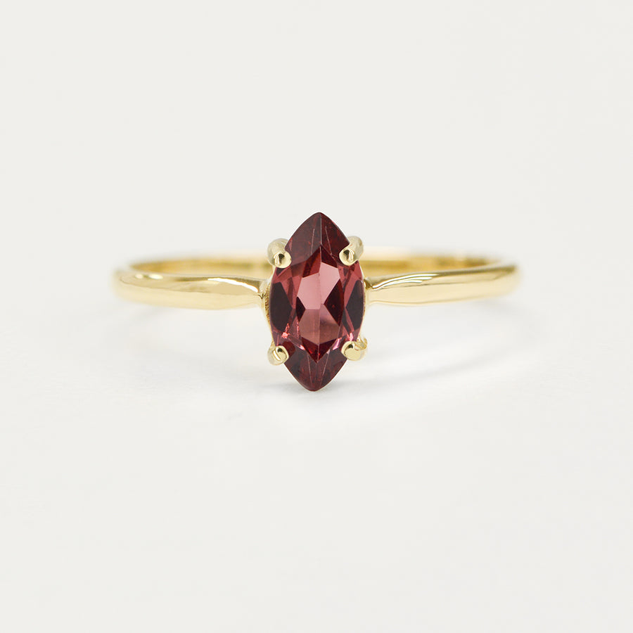 Marquise Rhodolite Garnet Ring Rings - A Gilded Leaf jewelry