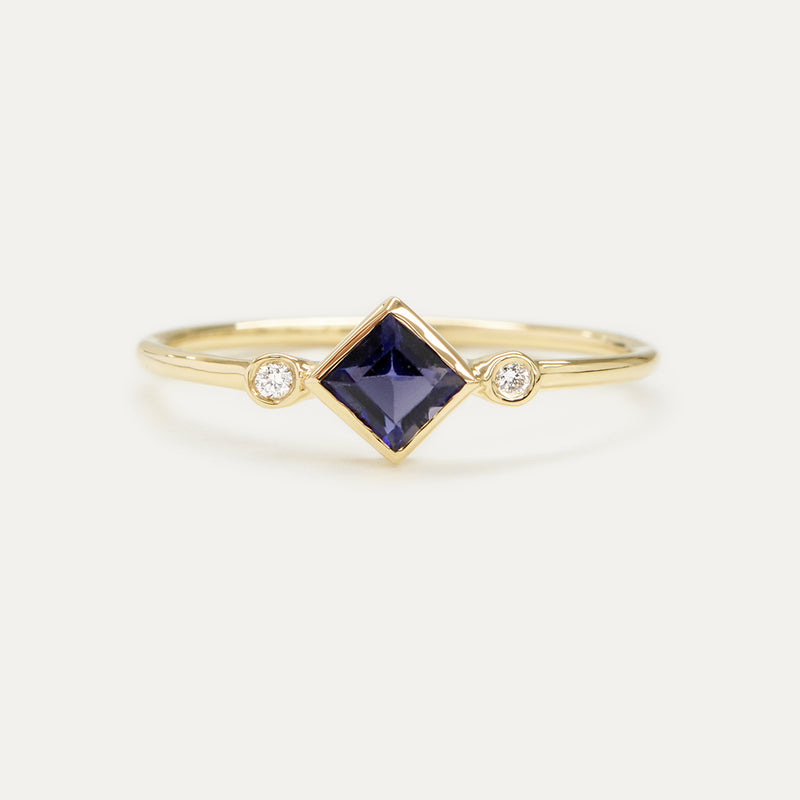 Skyler Princess Gemstone Diamond Ring (Multiple Gemstone Options)