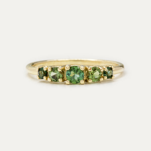 Multi Color Green Tourmaline Ring Rings - A Gilded Leaf jewelry