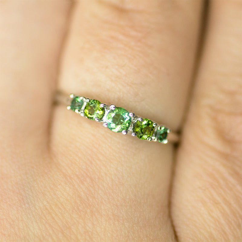 Multi Color Green Tourmaline Ring