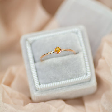 Bezel Set Citrine Ring