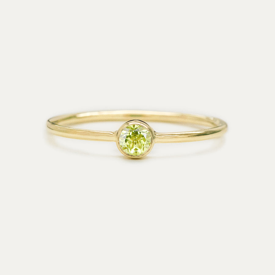 Bezel Set Peridot Ring Rings - A Gilded Leaf jewelry