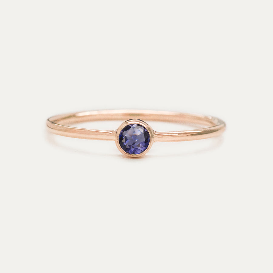 Bezel Set Iolite Ring