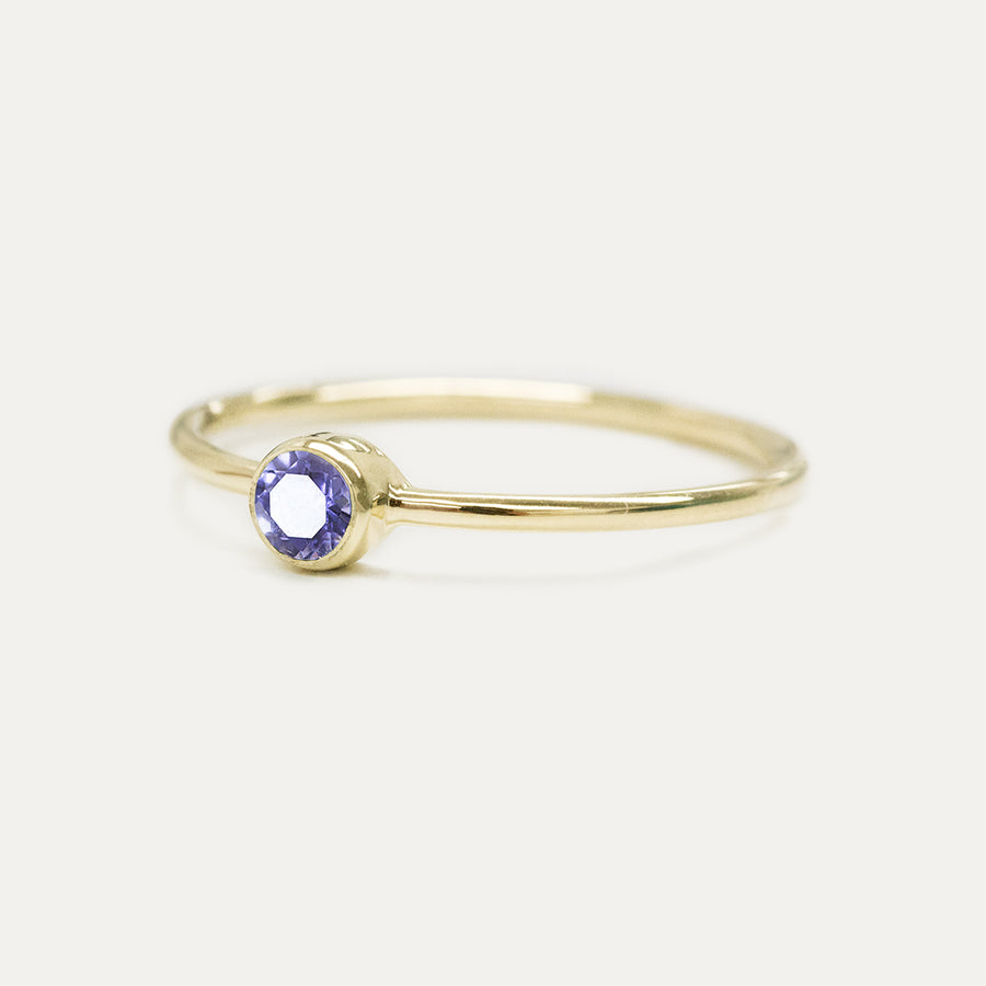 Bezel Set Iolite Ring Rings - A Gilded Leaf jewelry