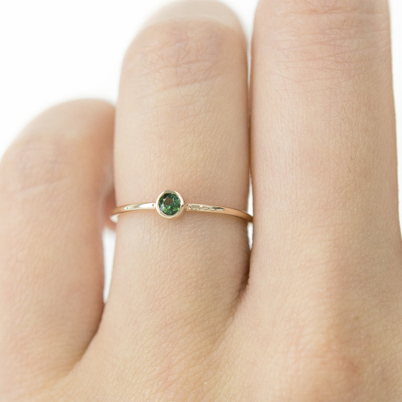 Bezel Gemstone Ring (Multiple Gemstone Options)