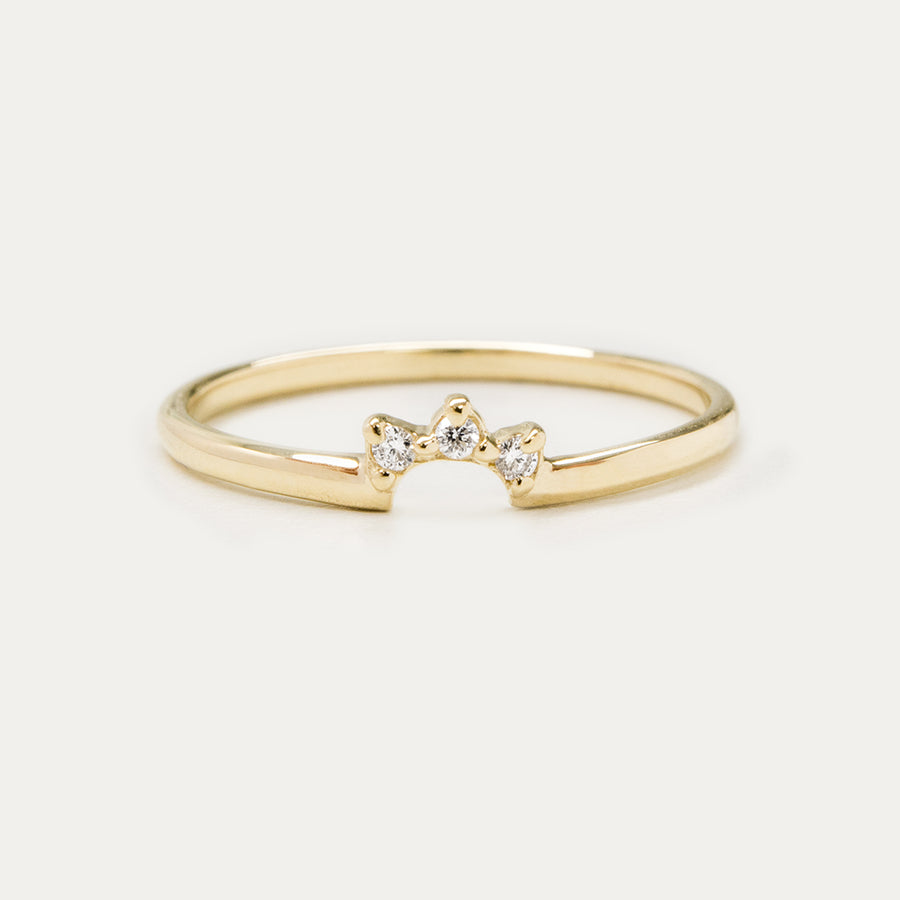 Dainty Diamond Crown Ring