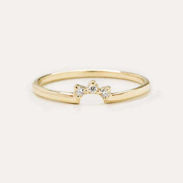Dainty Diamond Crown Ring Rings - A Gilded Leaf jewelry