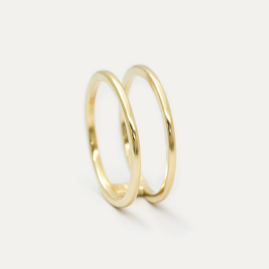 Double Band Wide Ring Rings - A Gilded Leaf jewelry