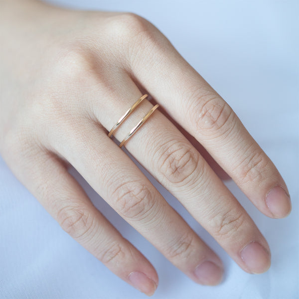 Double Line Wide Ring - Sample