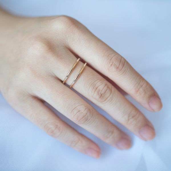 Double Line Wide Ring