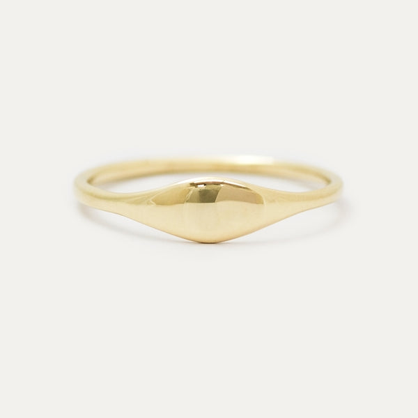 Eyelet Oval Signet Ring Rings - A Gilded Leaf jewelry