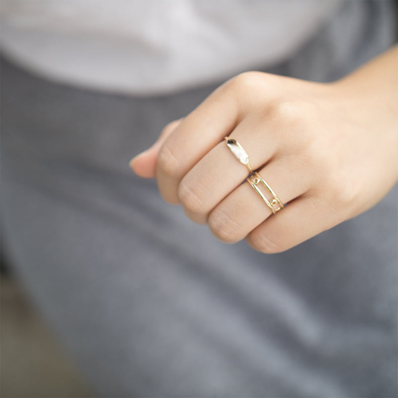 Rectangular Signet Ring Rings - A Gilded Leaf jewelry