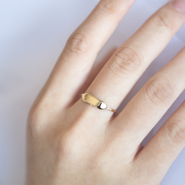 Signet Rectangular Ring