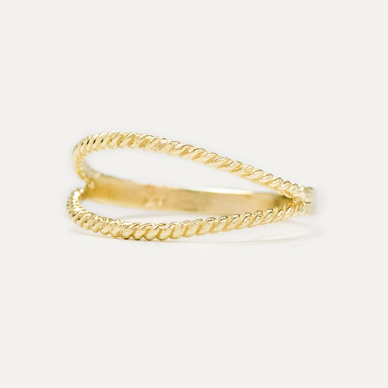 Twisted Split Ring Rings - A Gilded Leaf jewelry