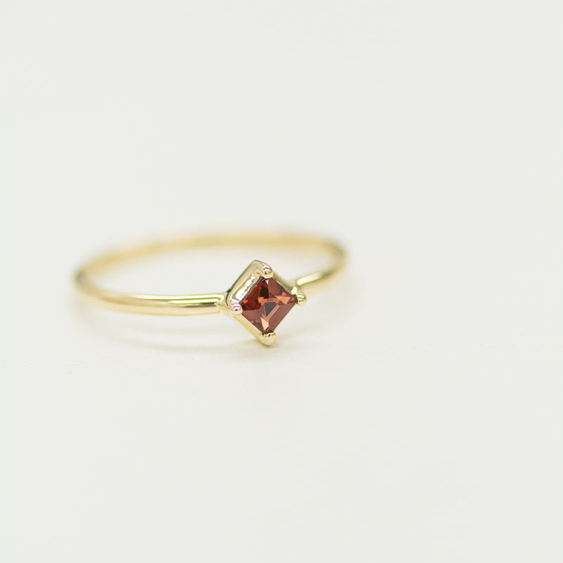 Princess Cut Gemstone Solitaire Ring (Multiple Gemstone Options)