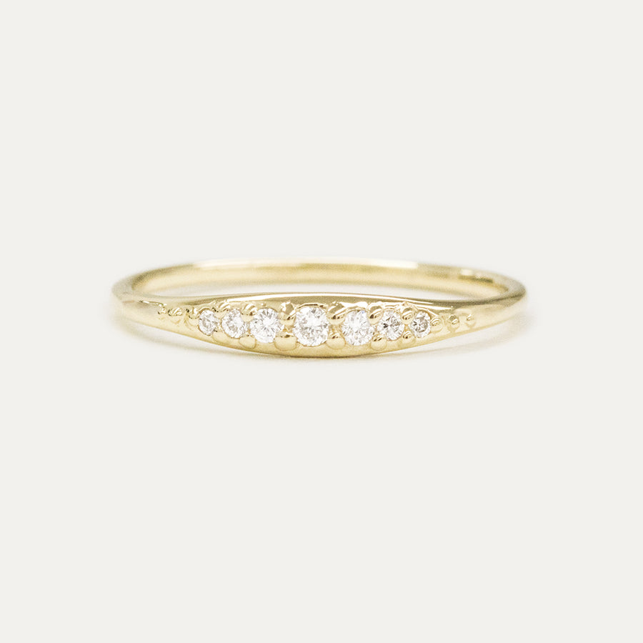 Graduating Diamond Tapered Ring Rings - A Gilded Leaf jewelry