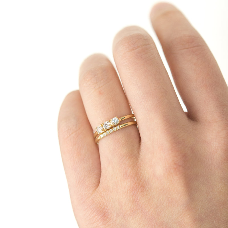 Diamond Accent Pavé Ring - Sample