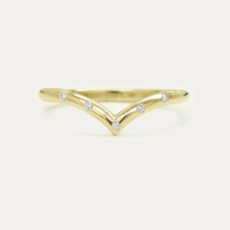 Drop V Diamond Ring