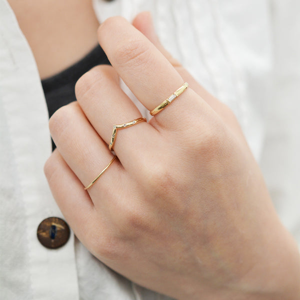 Drop V Diamond Ring Rings - A Gilded Leaf jewelry