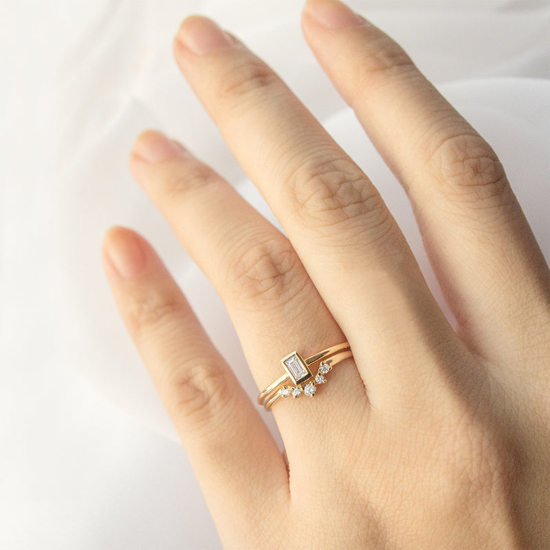 Bezel Baguette Diamond Ring