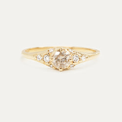 Diamond Cluster Engagement Ring Rings - A Gilded Leaf jewelry