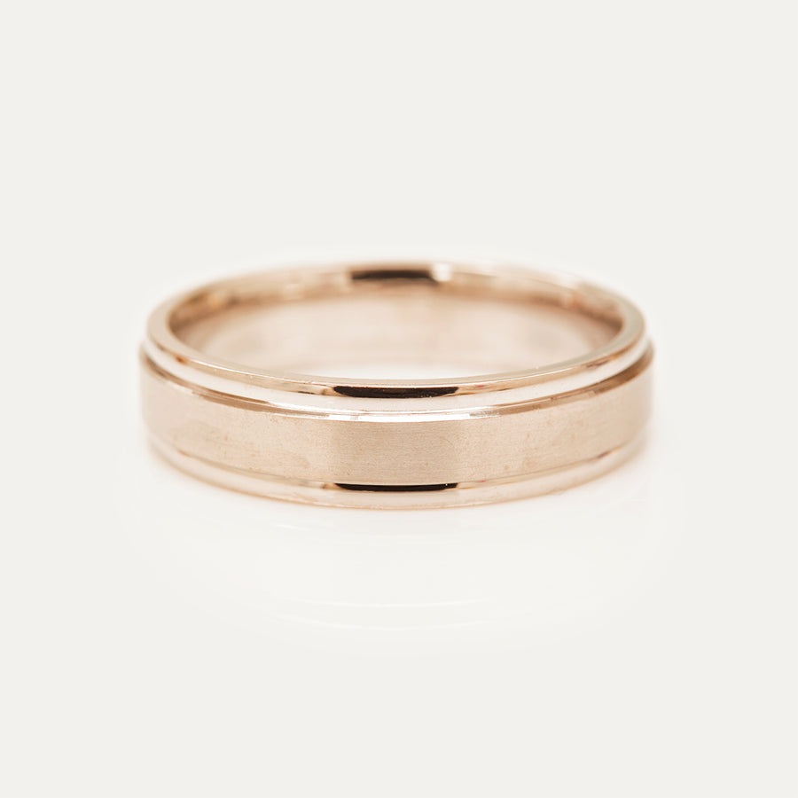 Classic Double Groove Band 5MM - Rose Gold Rings - A Gilded Leaf jewelry