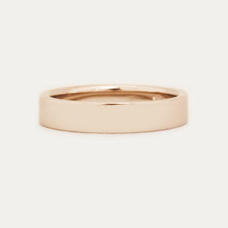 Classic Flat Band 4MM - Rose Gold Rings - A Gilded Leaf jewelry