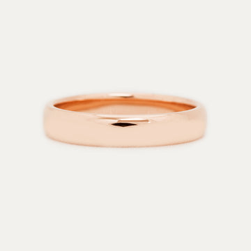 Classic Half Round Band 4MM - Rose Gold Rings - A Gilded Leaf jewelry