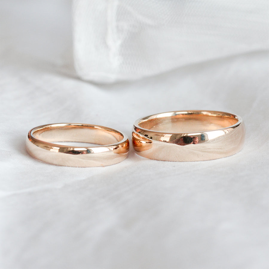 Classic Half Round Band 6MM - Rose Gold