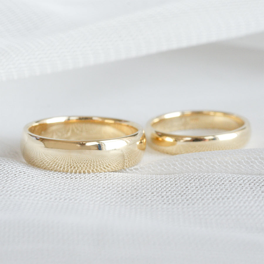 Classic Half Round Band 6MM - Yellow Gold