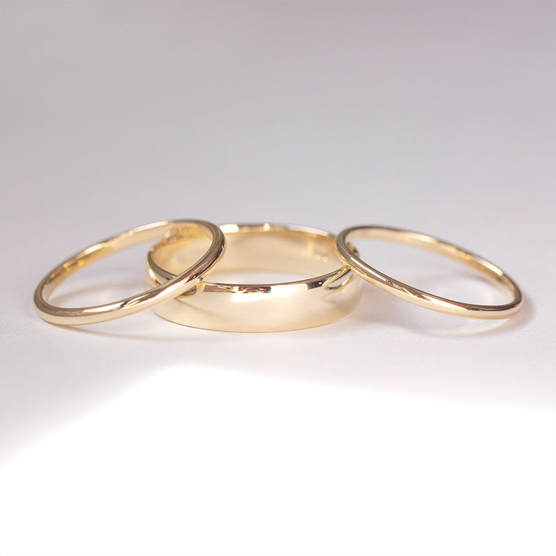 Classic Half Round Band - 6 MM - Sample