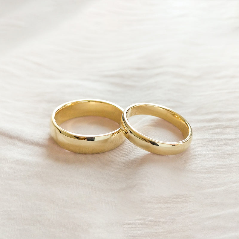 Classic Half Round Band 4MM - Yellow Gold