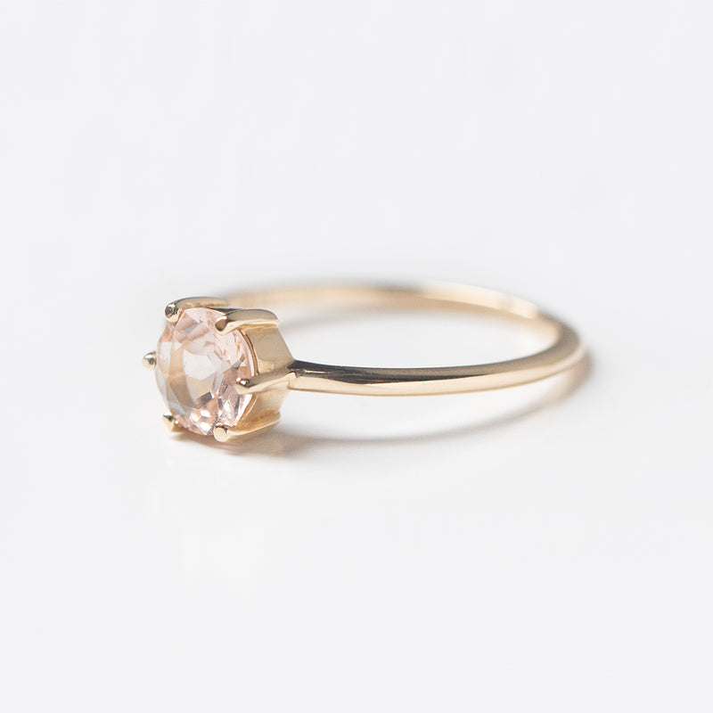 Written In The Stars Morganite Six-Prong Solitaire Ring - Sample