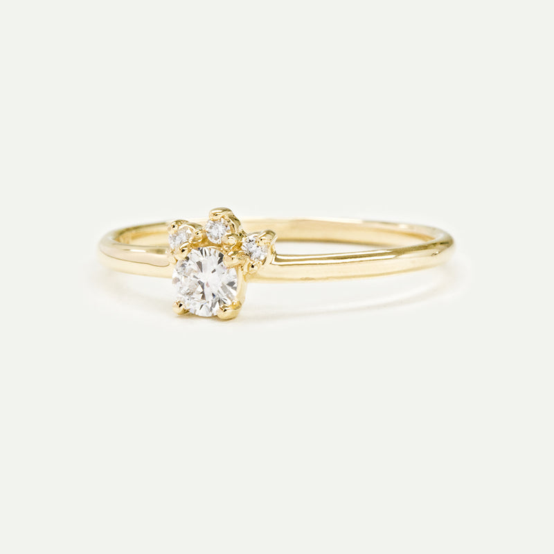 Mini Halo Diamond Ring Rings - A Gilded Leaf jewelry