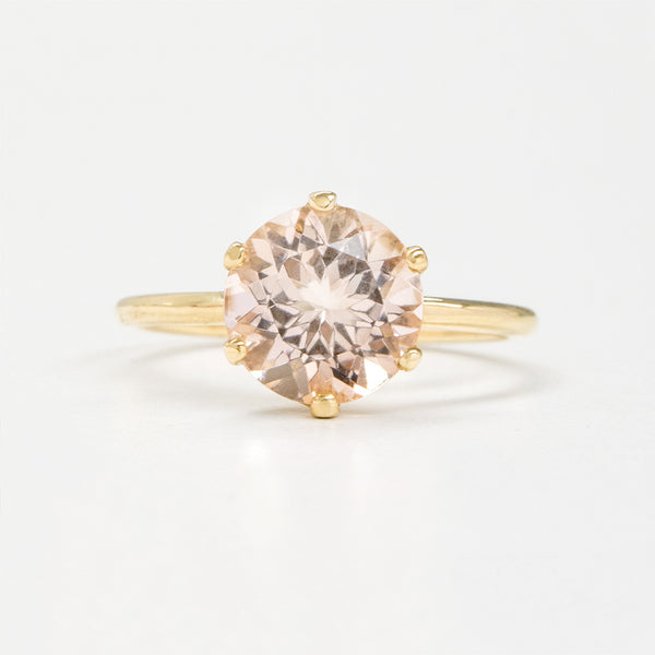 Classic Morganite 6-Prong Ring Rings - A Gilded Leaf jewelry